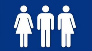 transgender woman male bathroom sign